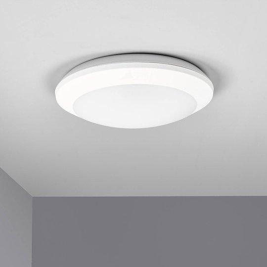 Sensor-LED-taklampe Umberta hvit, CCT