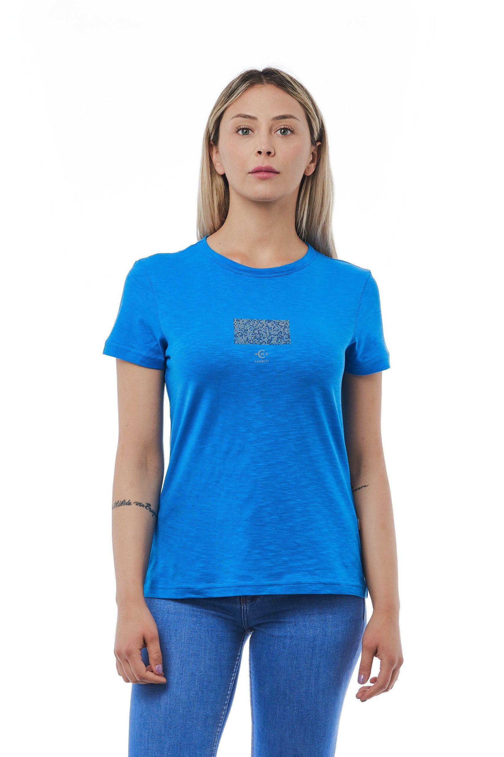 Cerruti 1881 Women's Blutte T-Shirt Light Blue CE1410140 - M