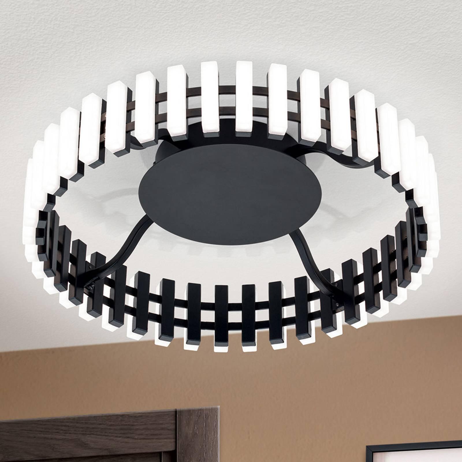LED-kattovalaisin Mansion, mustavalkoinen Ø 43 cm