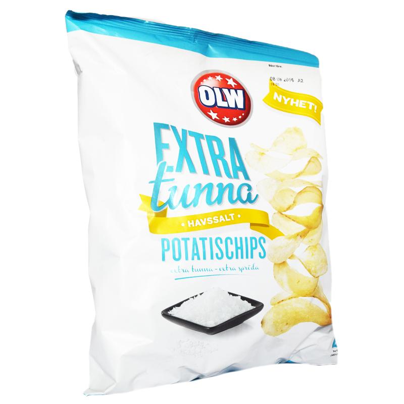 """Chips """"Extra Tunna"""" Havssalt - 63% rabatt"""