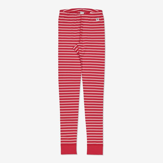 Stripet bukse voksen rød