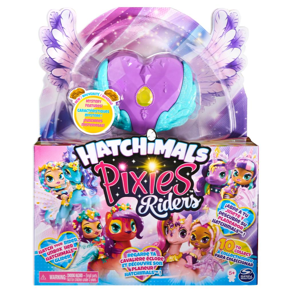 Hatchimals - Pixies Riders - Moonlight Mia Pixie & Unicornix Glider