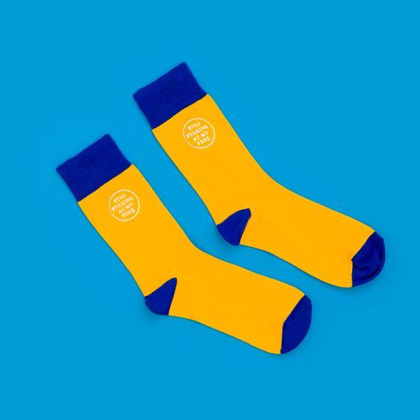 Stop Staring At My Feet Socks