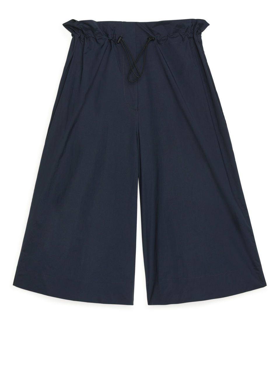 Paperbag-Waist Shorts - Blue
