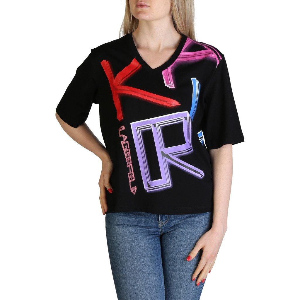 Karl Lagerfeld Women's T-Shirt Various Colours KL21WTS02 - black XS