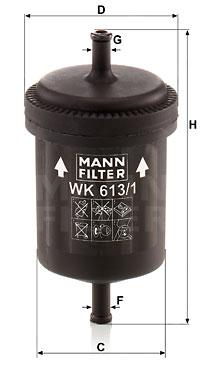 Polttoainesuodatin MANN-FILTER WK 613/1