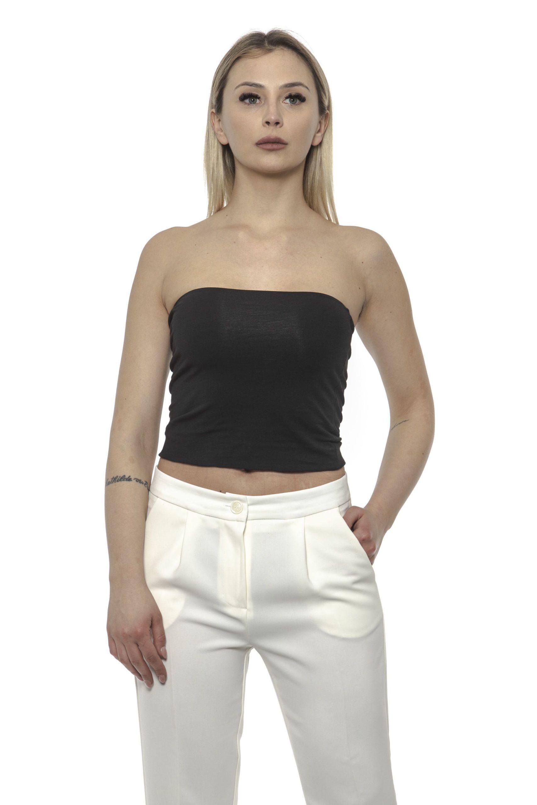 Alpha Studio Women's Nero Top Black AL1374761 - IT46 | L