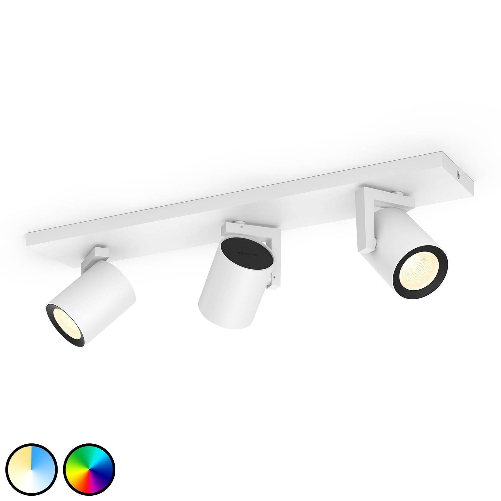 Philips Hue Argenta LED-spot tre lyskilder hvit