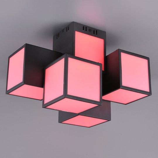 Trio WiZ Oscar LED-taklampe 45x30cm, svart