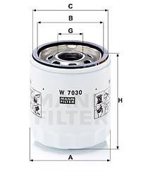 Öljynsuodatin MANN-FILTER W 7030