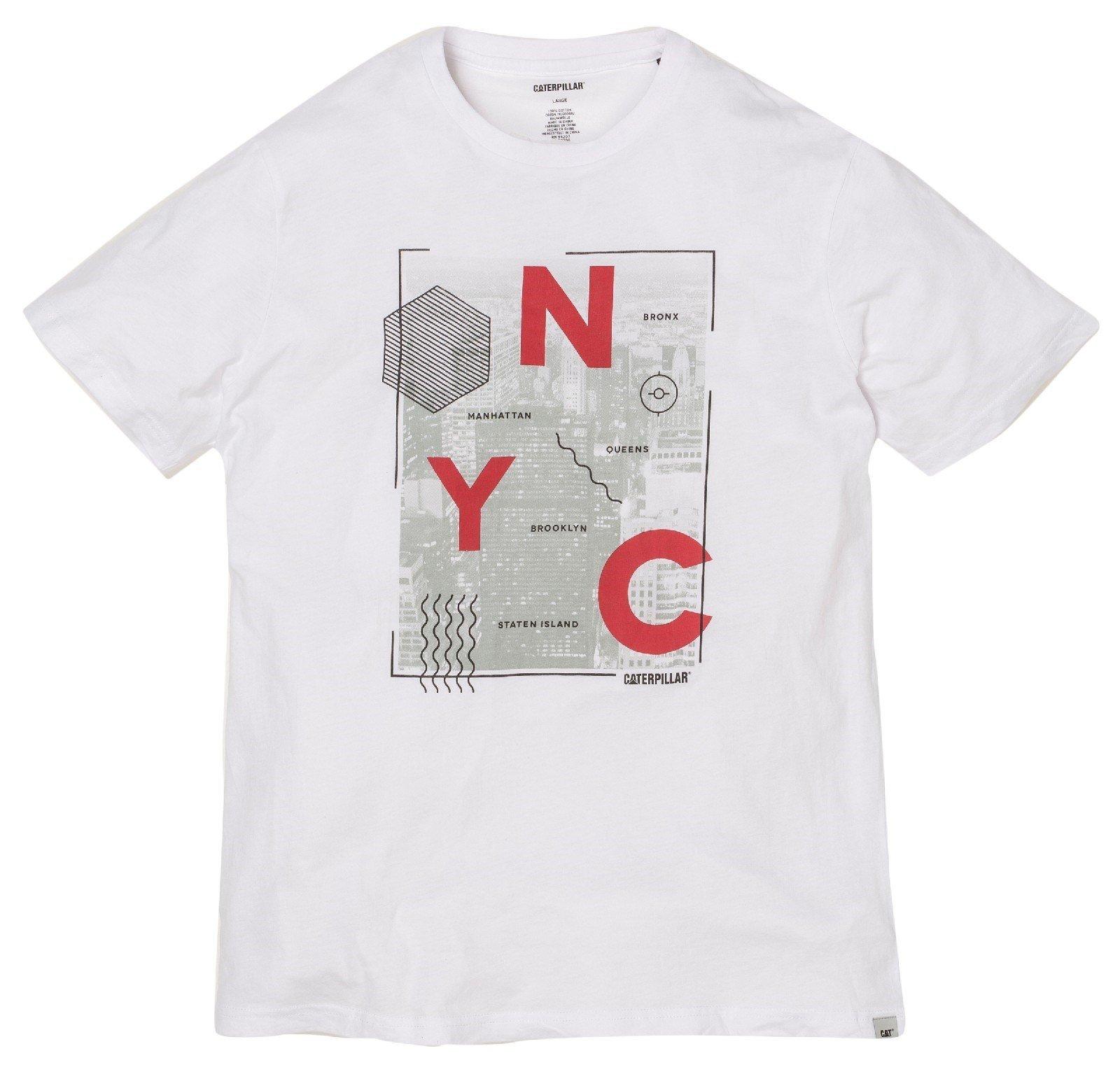 CAT Lifestyle Unisex NYC T-Shirt White 26162 - White Sml