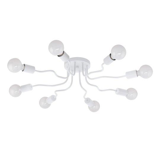Kattovalaisin Orazio, valkoinen, 8-lamppuinen