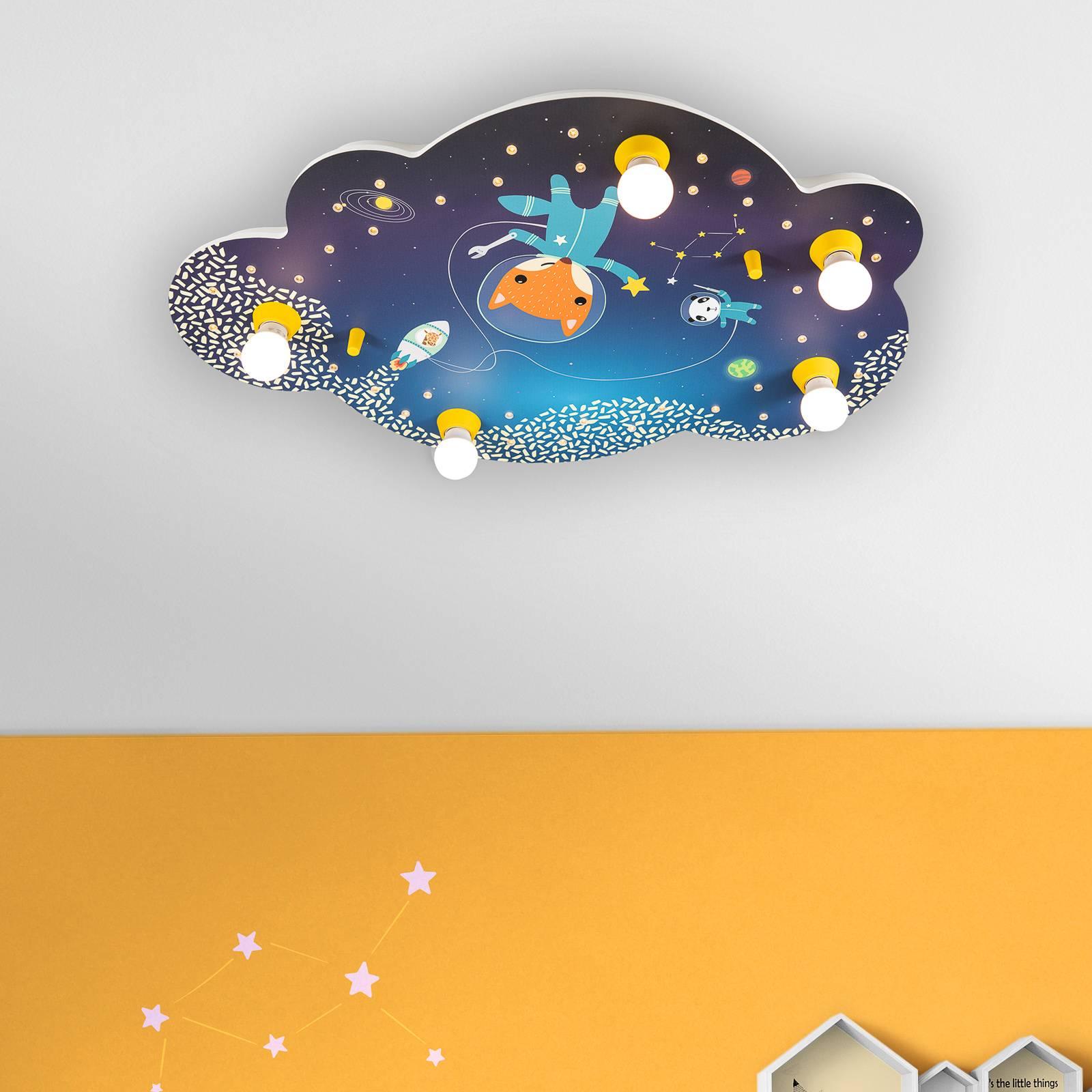 Kattovalaisin Space Mission, pilvi, sininen