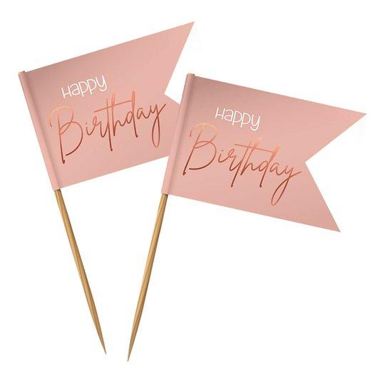 Partypicks Happy Birthday Lush Blush - 36-pack