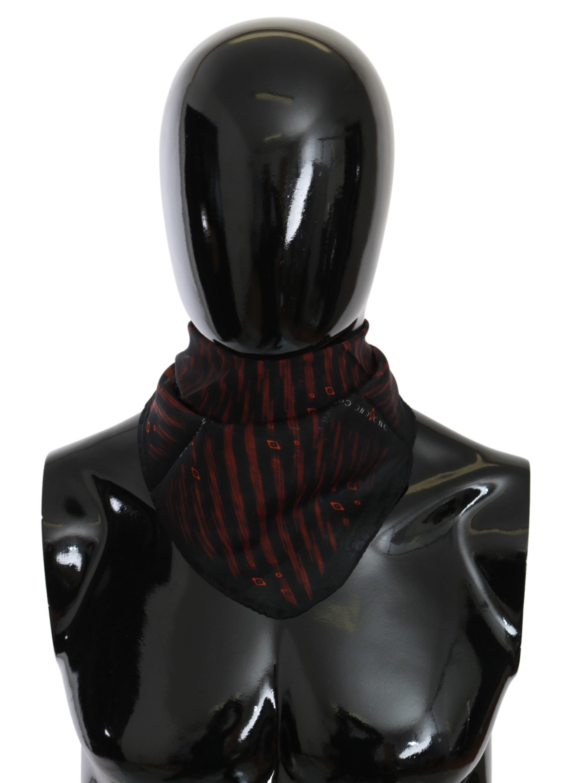 Costume National Women's Silk Branded Scarf Black MS1663