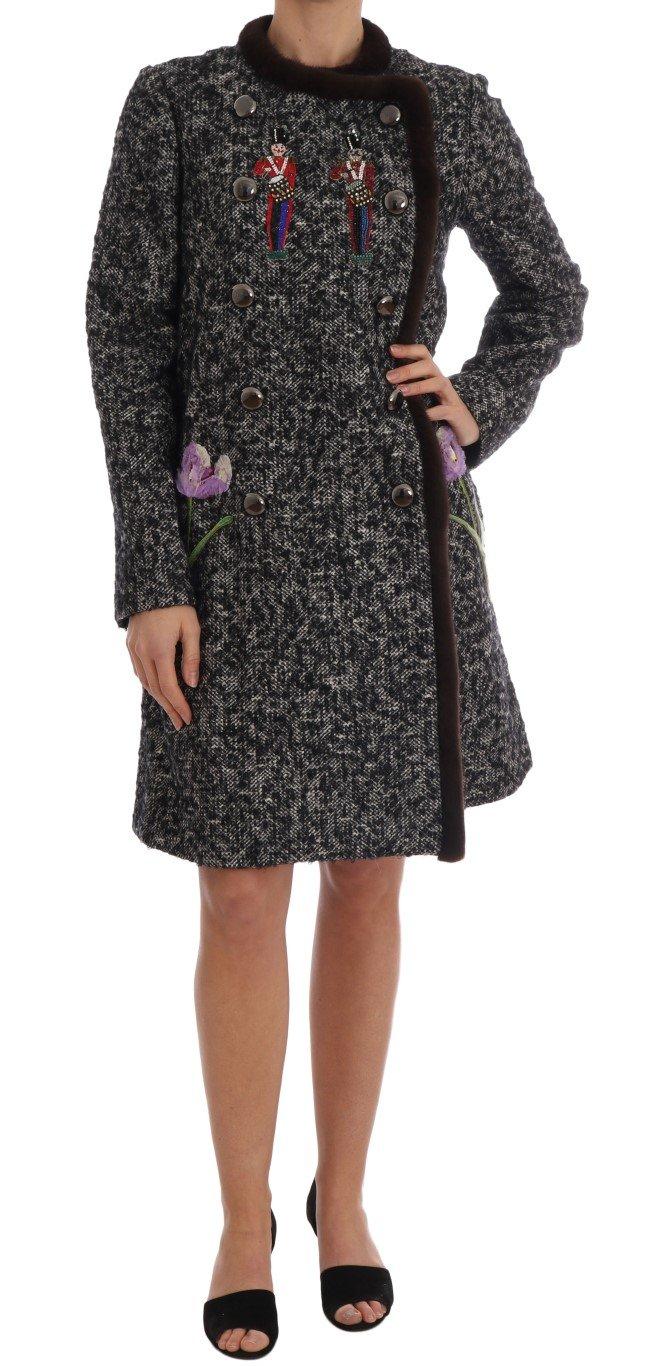Dolce & Gabbana Women's Fur Coat Black JKT1122-1 - IT42|M
