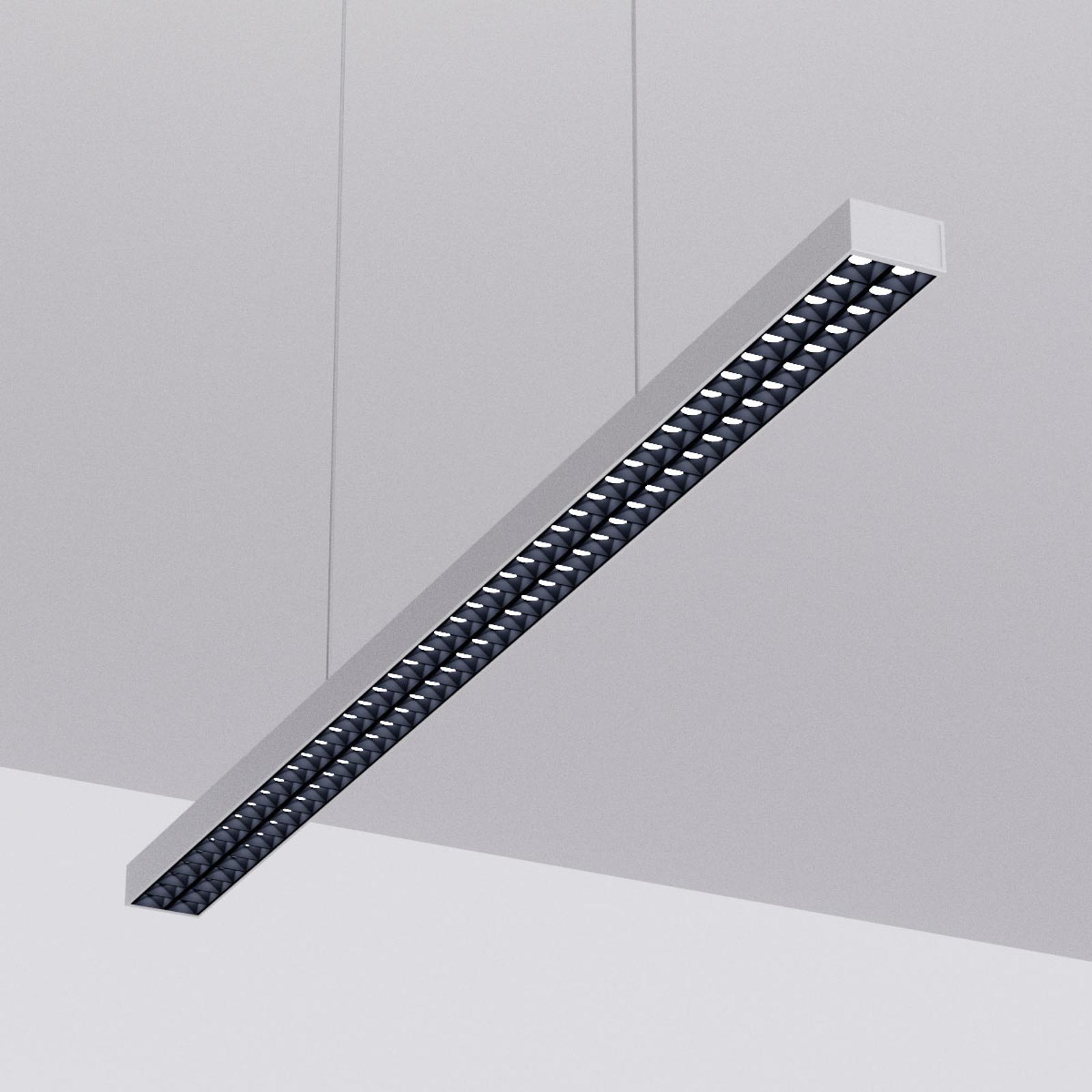 LED-riippuvalo Jolinda toimistokäyttöön, hopea