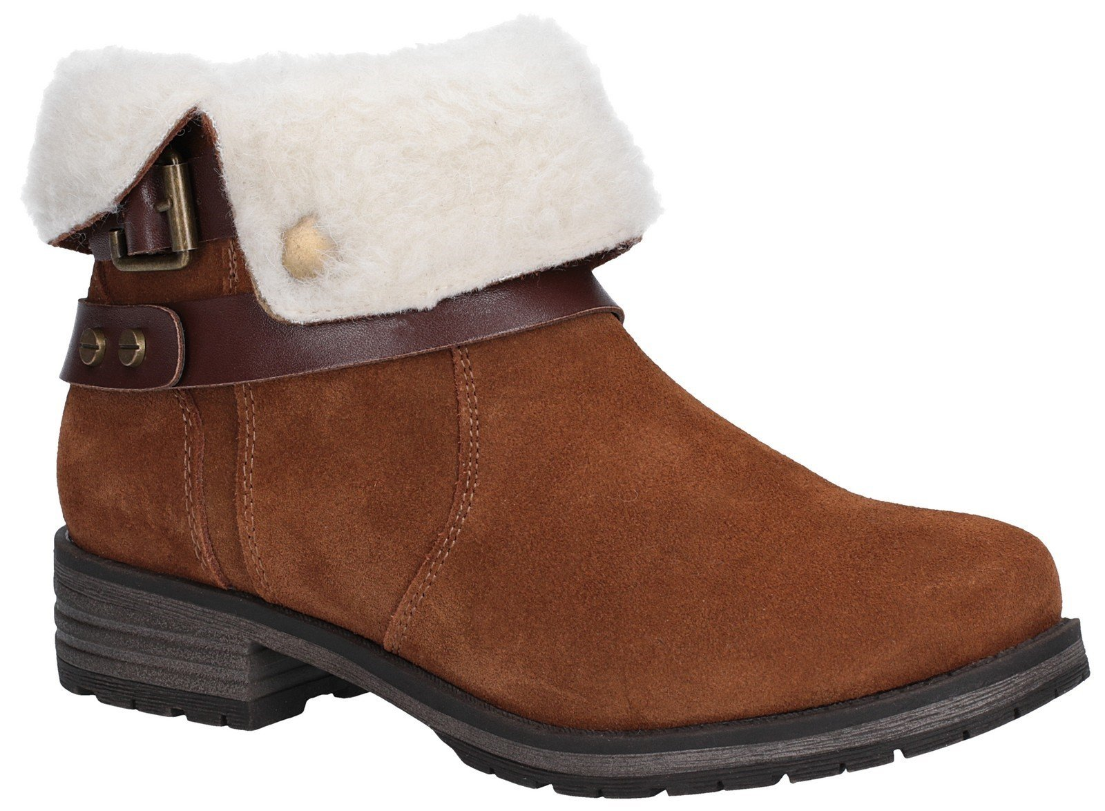 Fleet & Foster Women's Soda Ankle Boot Black 27145-45603 - Tan 3