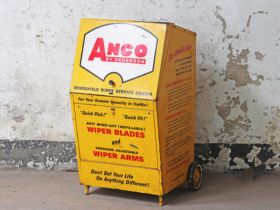 Vintage Industrial Trolley Cabinet by Anco Yellow