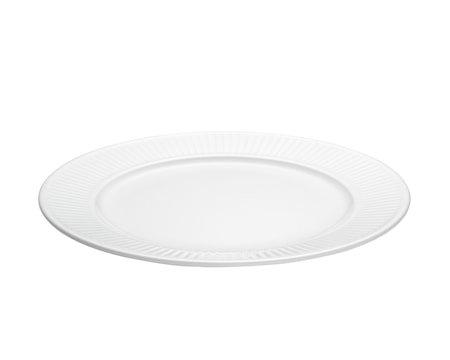 Plissé tallerken flat hvit, Ø 22 cm
