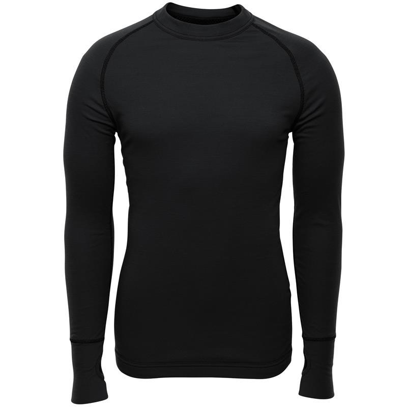 Brynje Arctic Shirt med tommelgrep XXL Tolags ventilerende undertøy - Sort