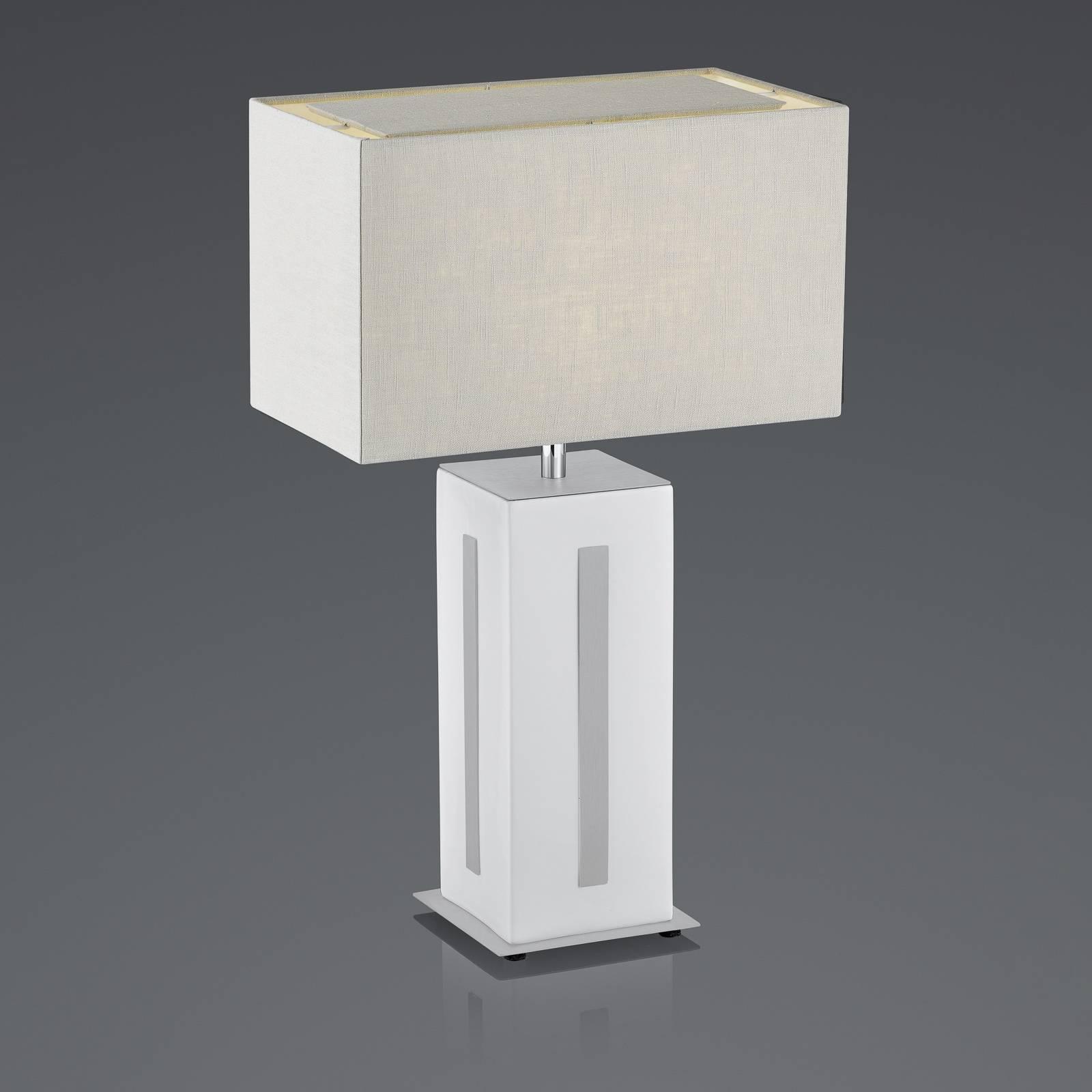 BANKAMP Karlo pöytävalaisin valkoinen/harmaa, 56cm