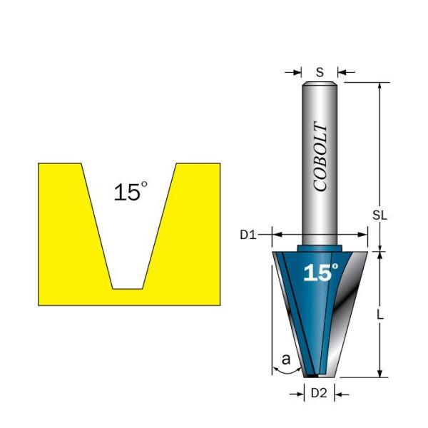 Cobolt 209-150B Fasefres L=29, D=22