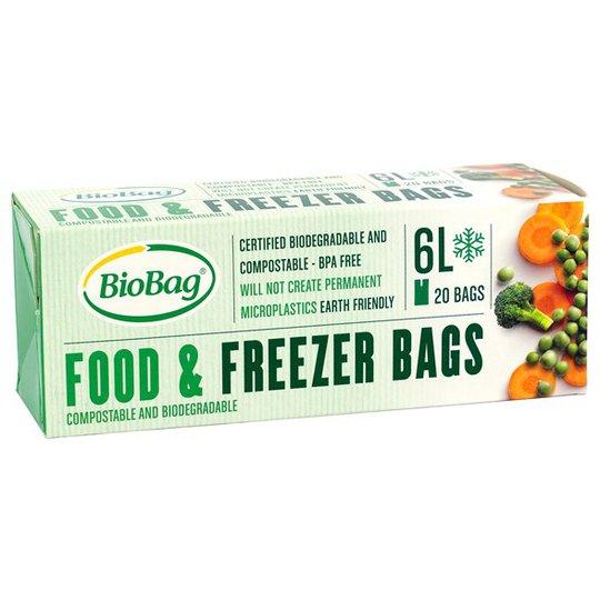 BioBag Nedbrytbar Fryspåse - 6 L, 20-pack