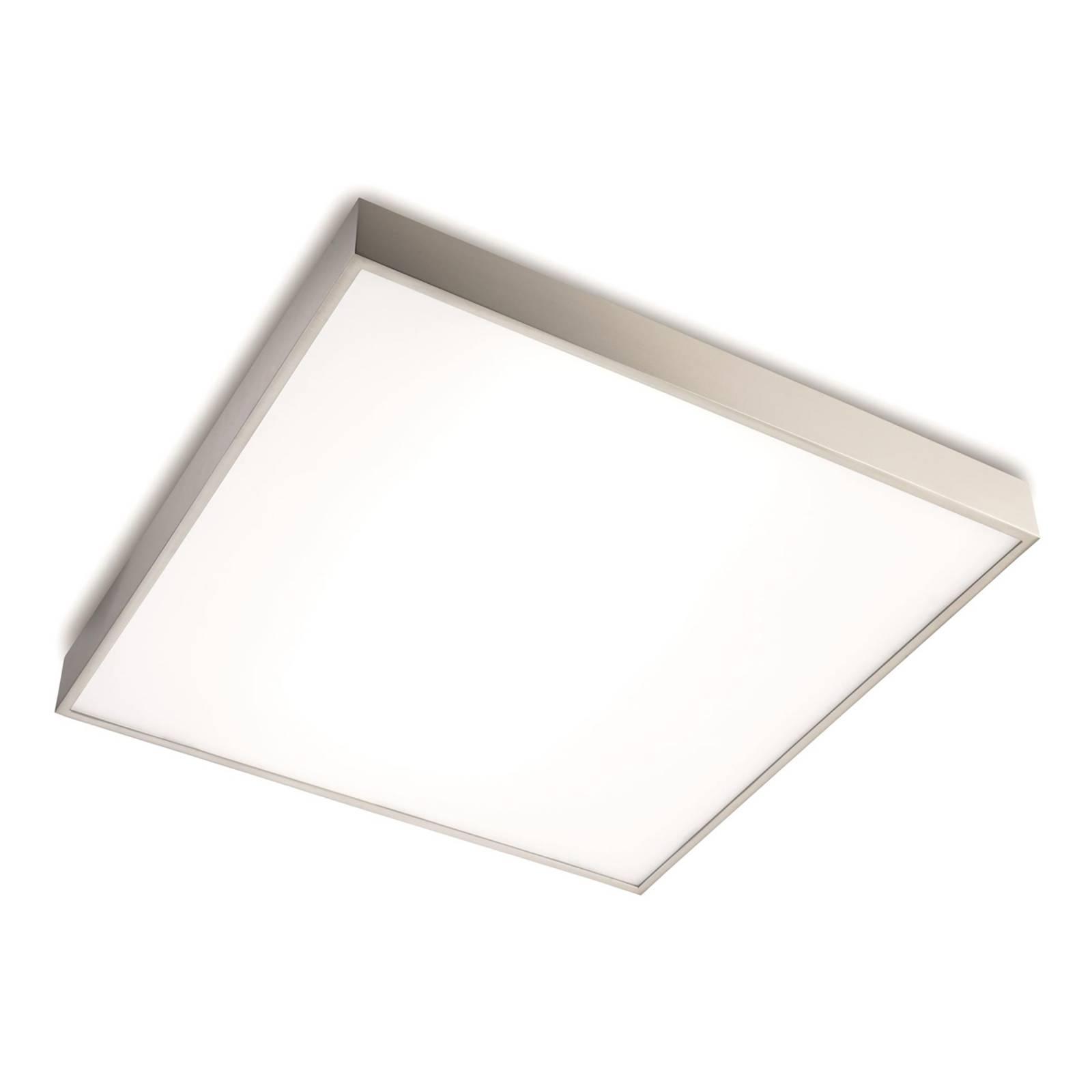 Korkealaatuinen LED-kattovalo Apolo, matta nikkeli