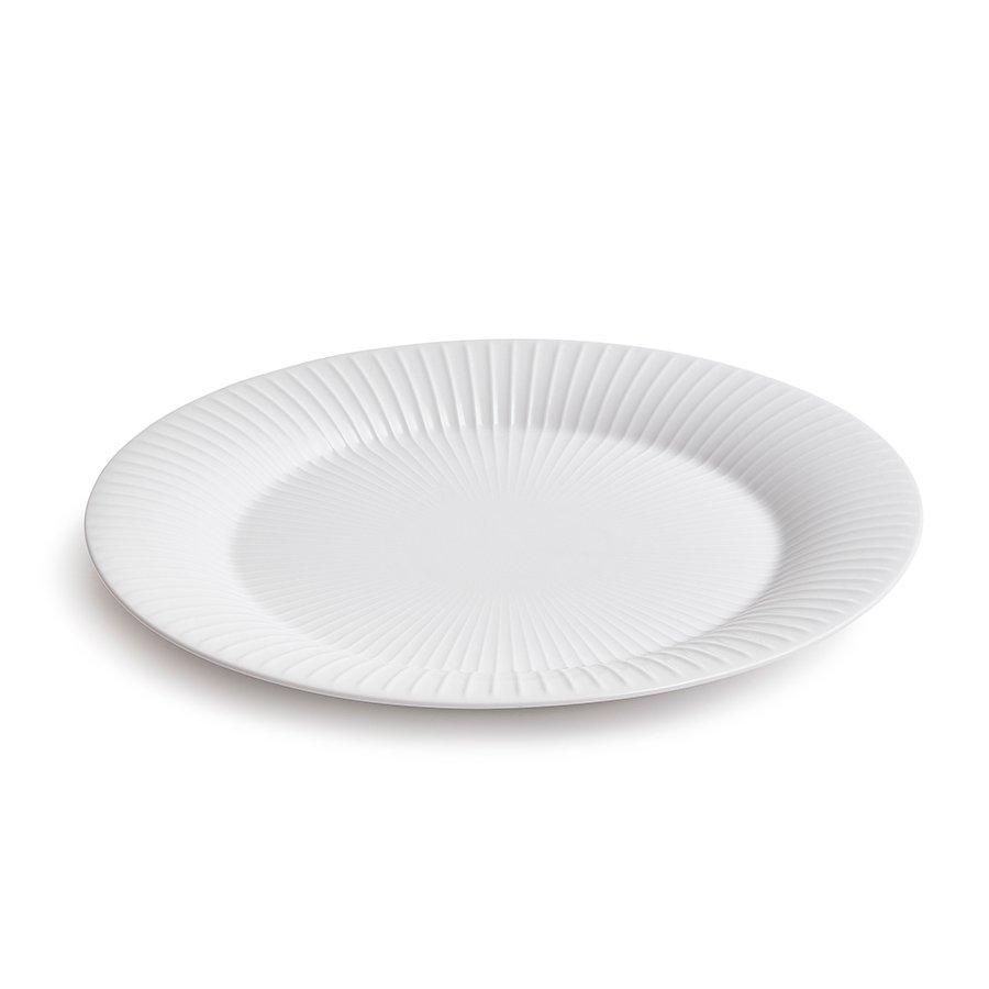 Kähler Hammershøi Ovalt Serveringsfat 28,5x22,5 cm Hvit