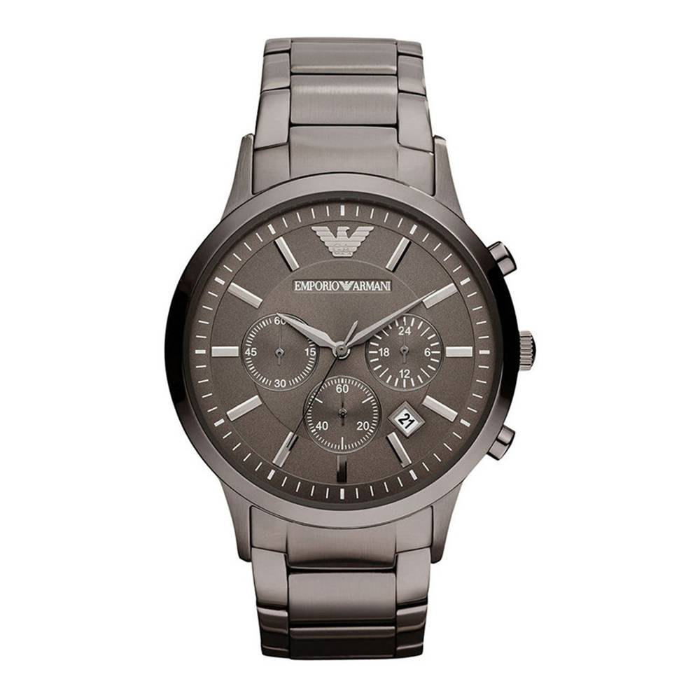 Emporio Armani Men's Classic Chronograph Stainless Steel Watch Silver AR2454