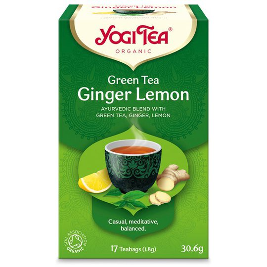Yogi Tea Green Tea Ginger Lemon, 17 påsar