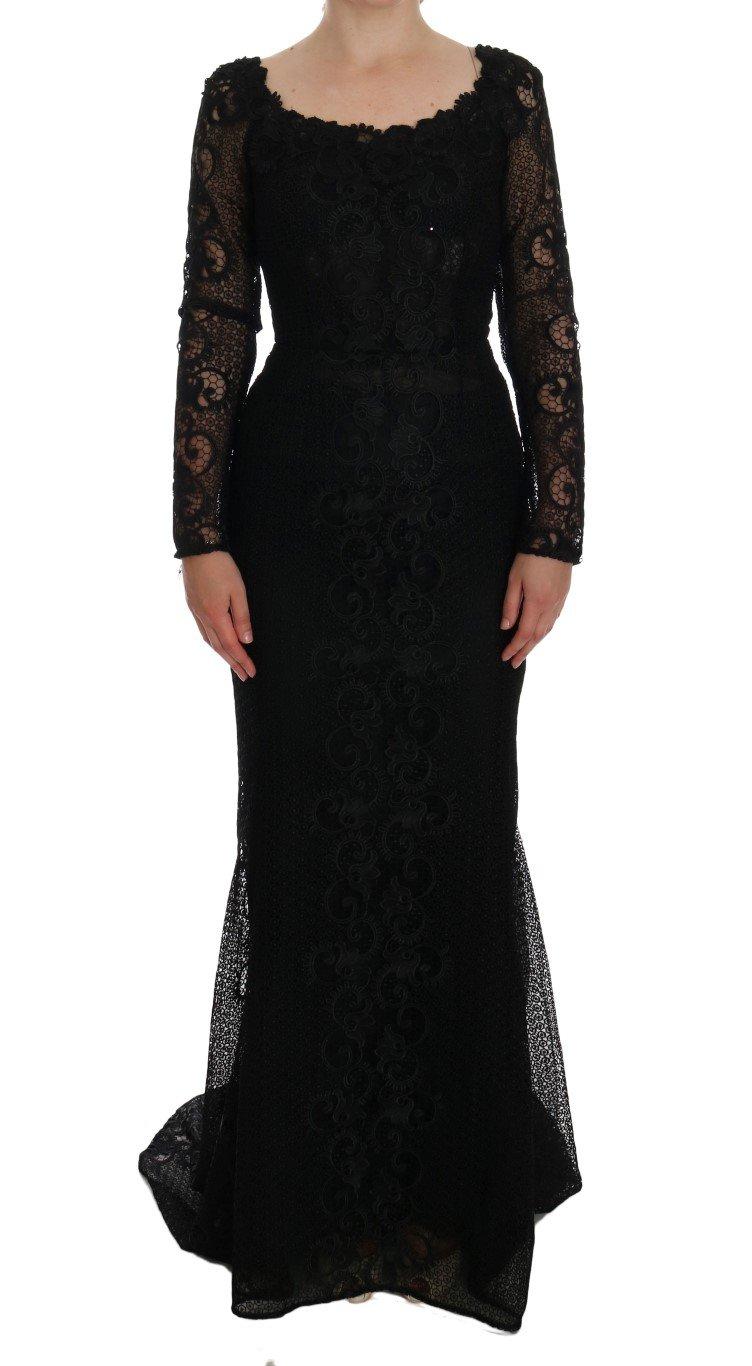 Dolce & Gabbana Women's Floral Sheath Dress Black DR1110 - IT38|XS