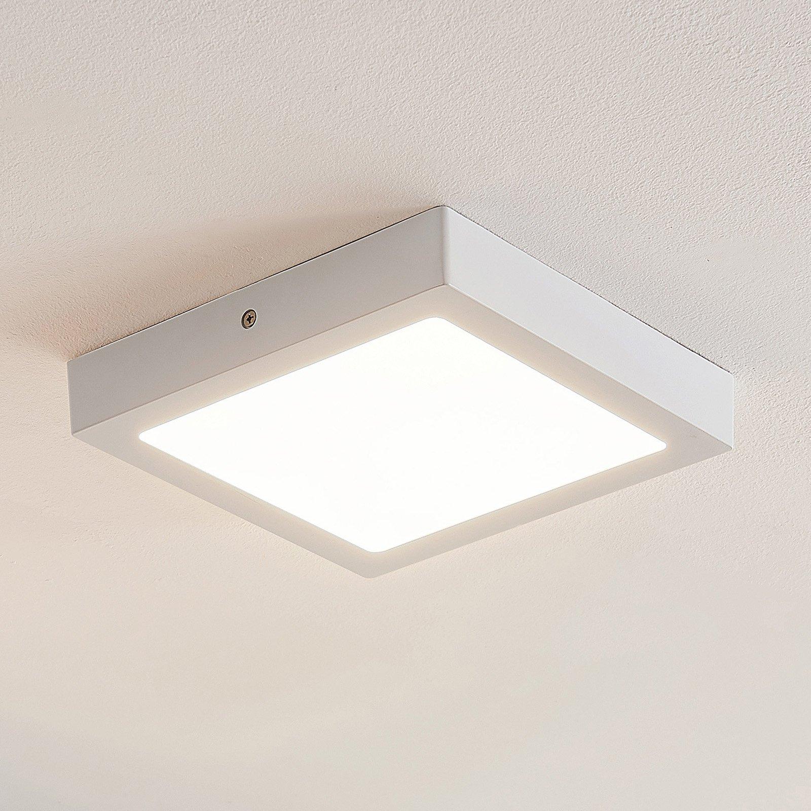 ELC Merina LED-taklampe hvit, 21,5 x 21,5cm