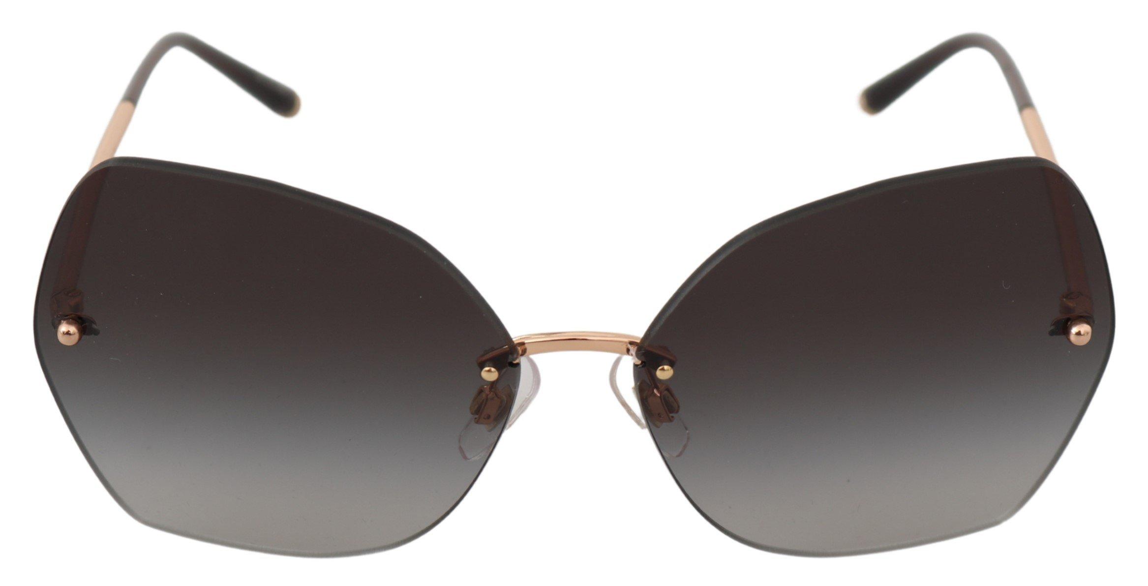 Dolce & Gabbana Women's Butterfly Logo Sunglasses Gray GLA743