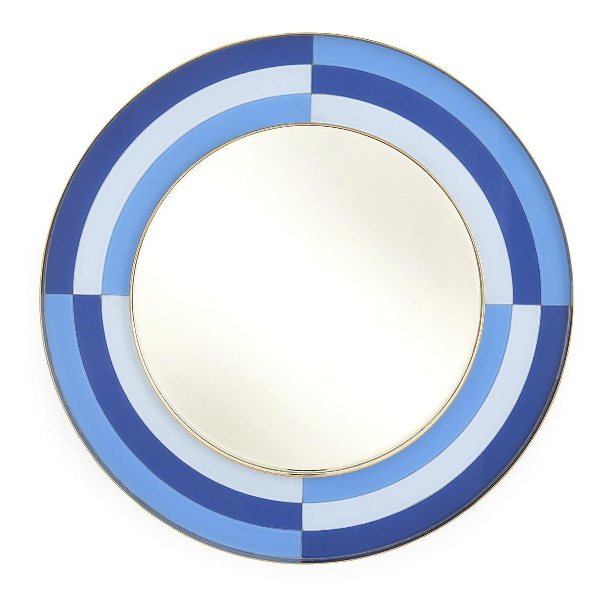 Jonathan Adler I Harlequin Round Mirror I Multi Blue