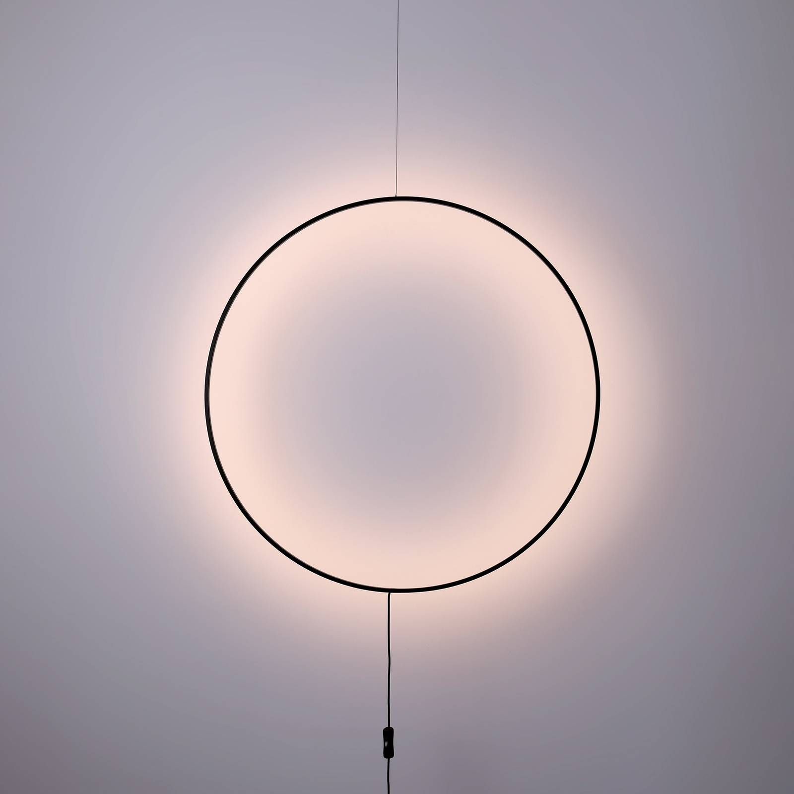 LED-seinävalaisin Shadow, pyöreä, Ø 61 cm