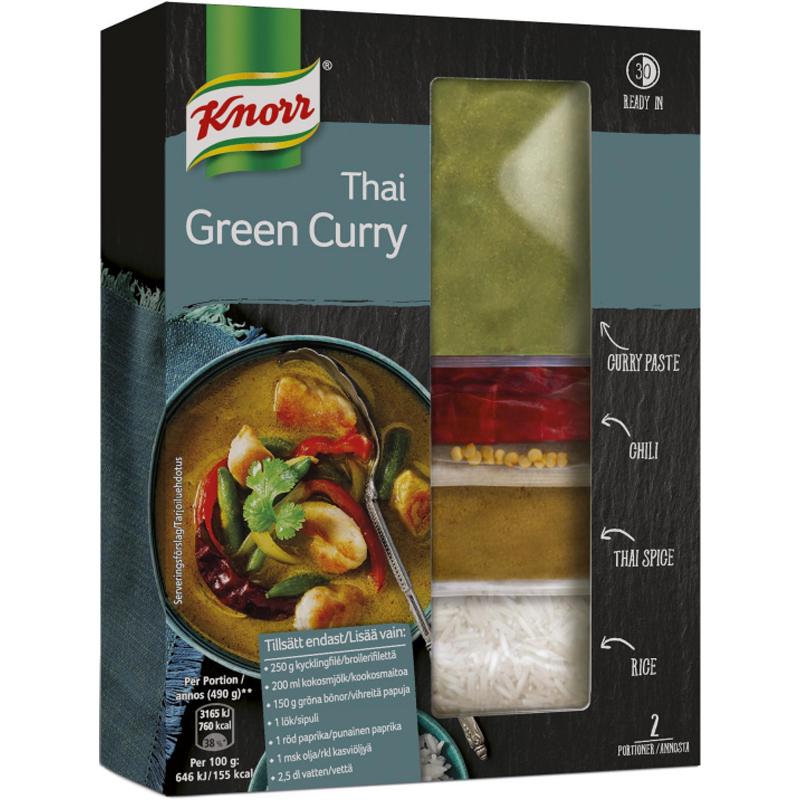 """Ateria-aines """"Thai Green Curry"""" 196g - 72% alennus"""