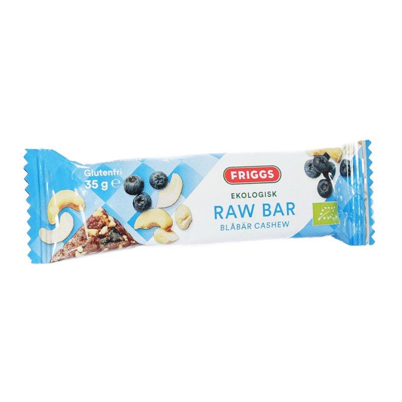 """""""Raw Bar"""" Blåbär & Cashew 35g - 50% rabatt"""