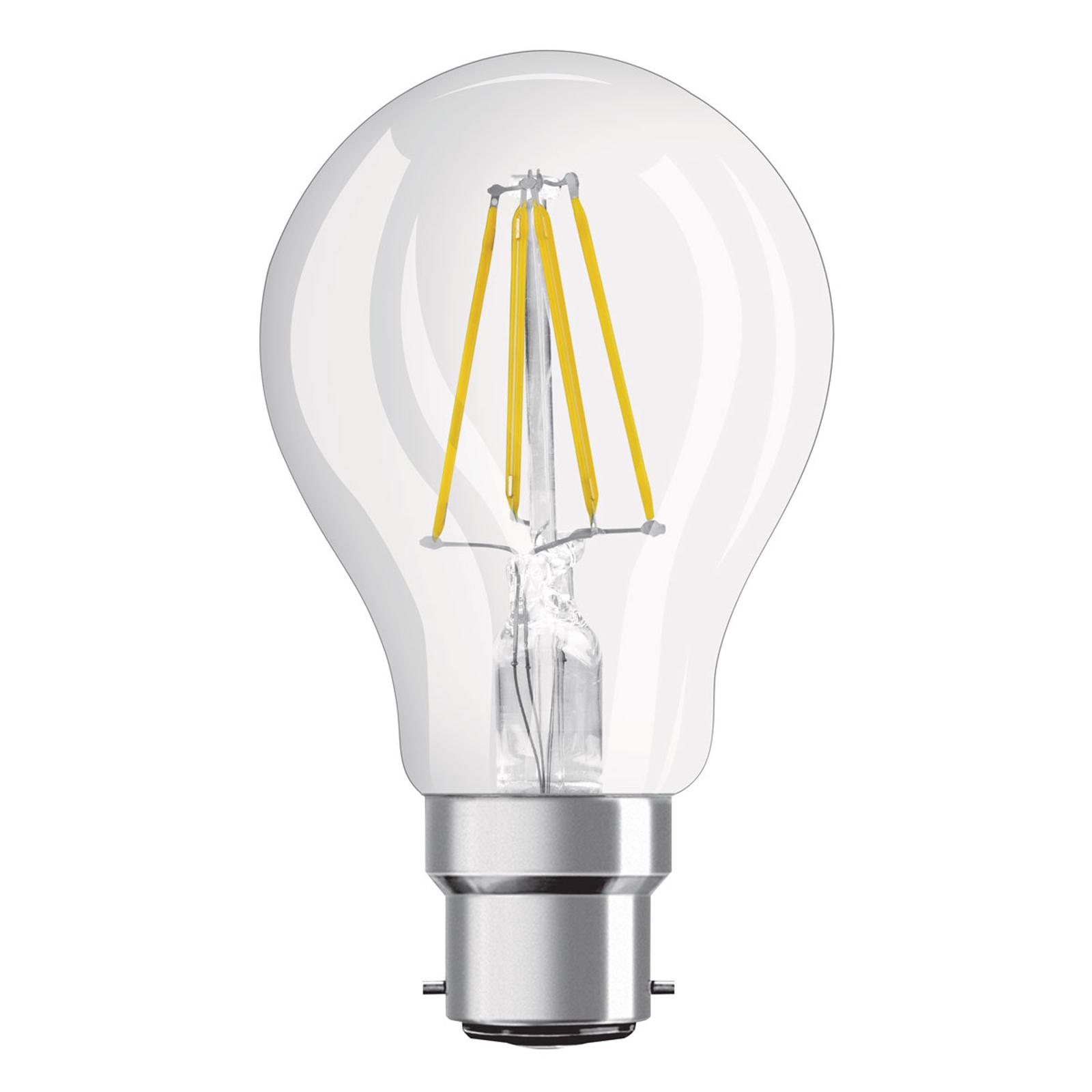 OSRAM-LED-lamppu B22d Superstar 827 7W dim kirkas