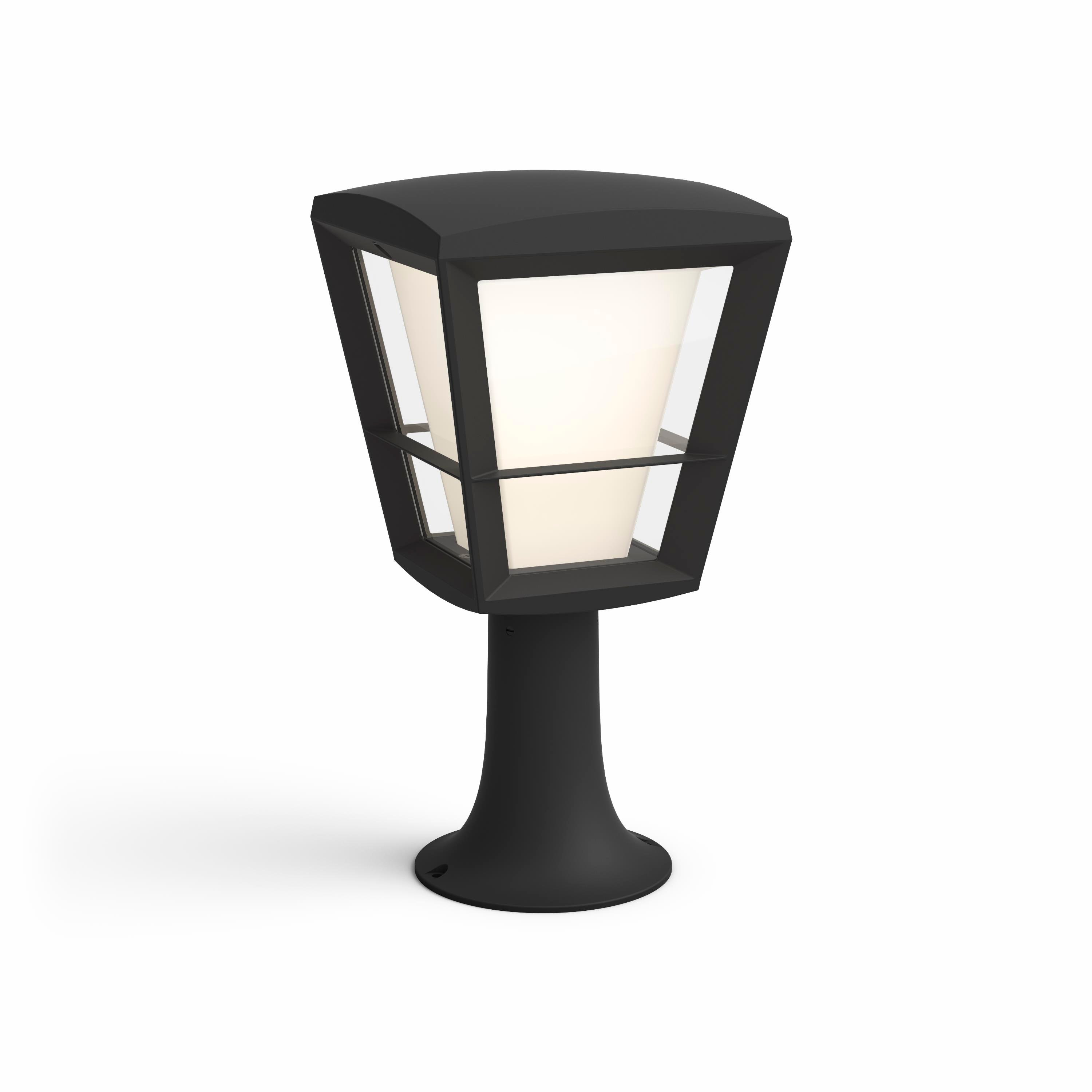 Philips Hue - Econic Pedestal Black Outdoor - White & Color Ambiance