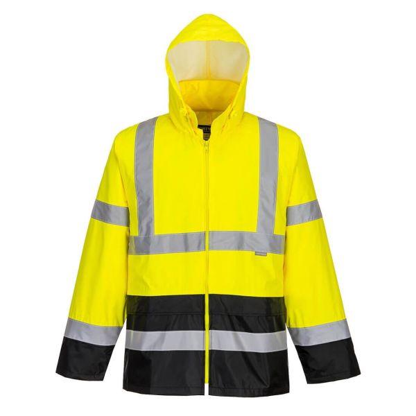 Portwest H443 Regnjacka Hi-Vis gul/svart S