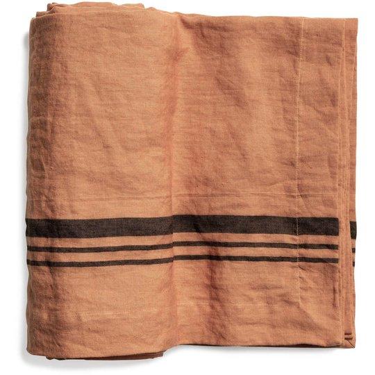 Top Drawer Duk LORRY i linné, stripe, Dry Terracotta