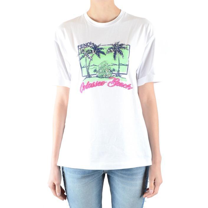 Fendi Women's T-Shirt White 164894 - white XS