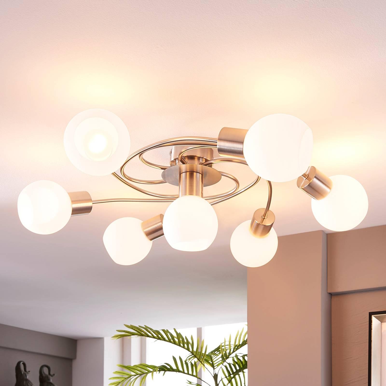 LED-kattovalaisin Ciala, 7-lamppuinen, nikkeli