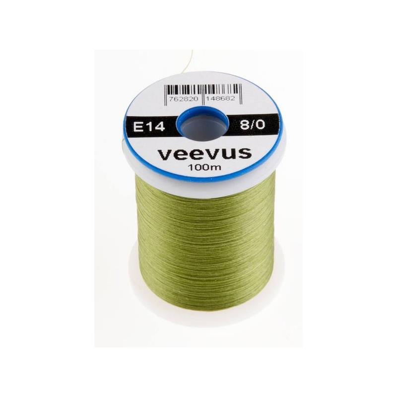 Veevus bindetråd 8/0 - Olive Råsterk, lett å splitte