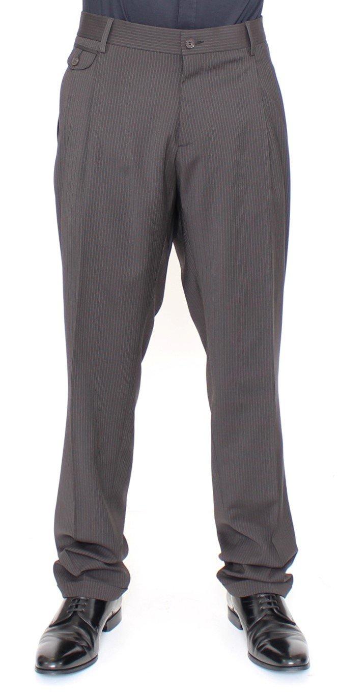 Dolce & Gabbana Men's Wool Stretch Pleated Trouser Brown HAN10253 - IT54 | XXL