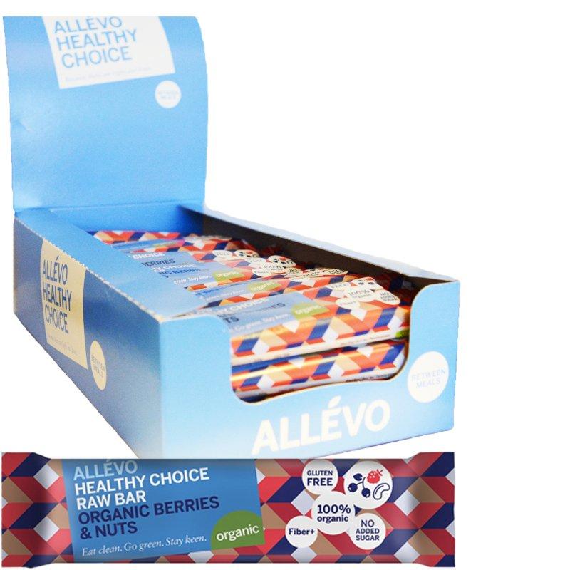 """Laatikollinen välipalapatukoita """"Berries & Nuts"""" 24 x 40 g - 72% alennus"""
