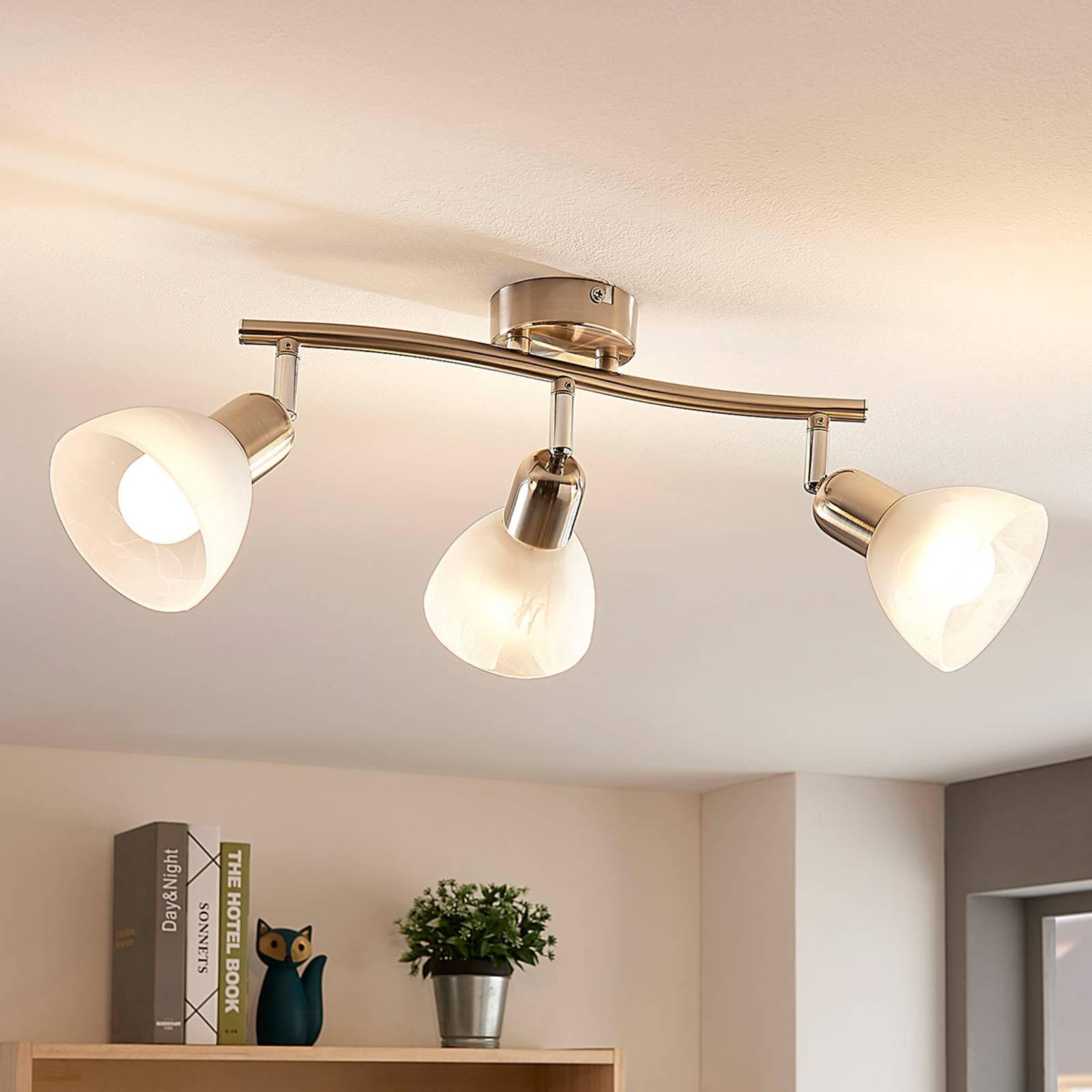 Lindby Paulina -LED-kattovalo, 3-lamp., pitkit.