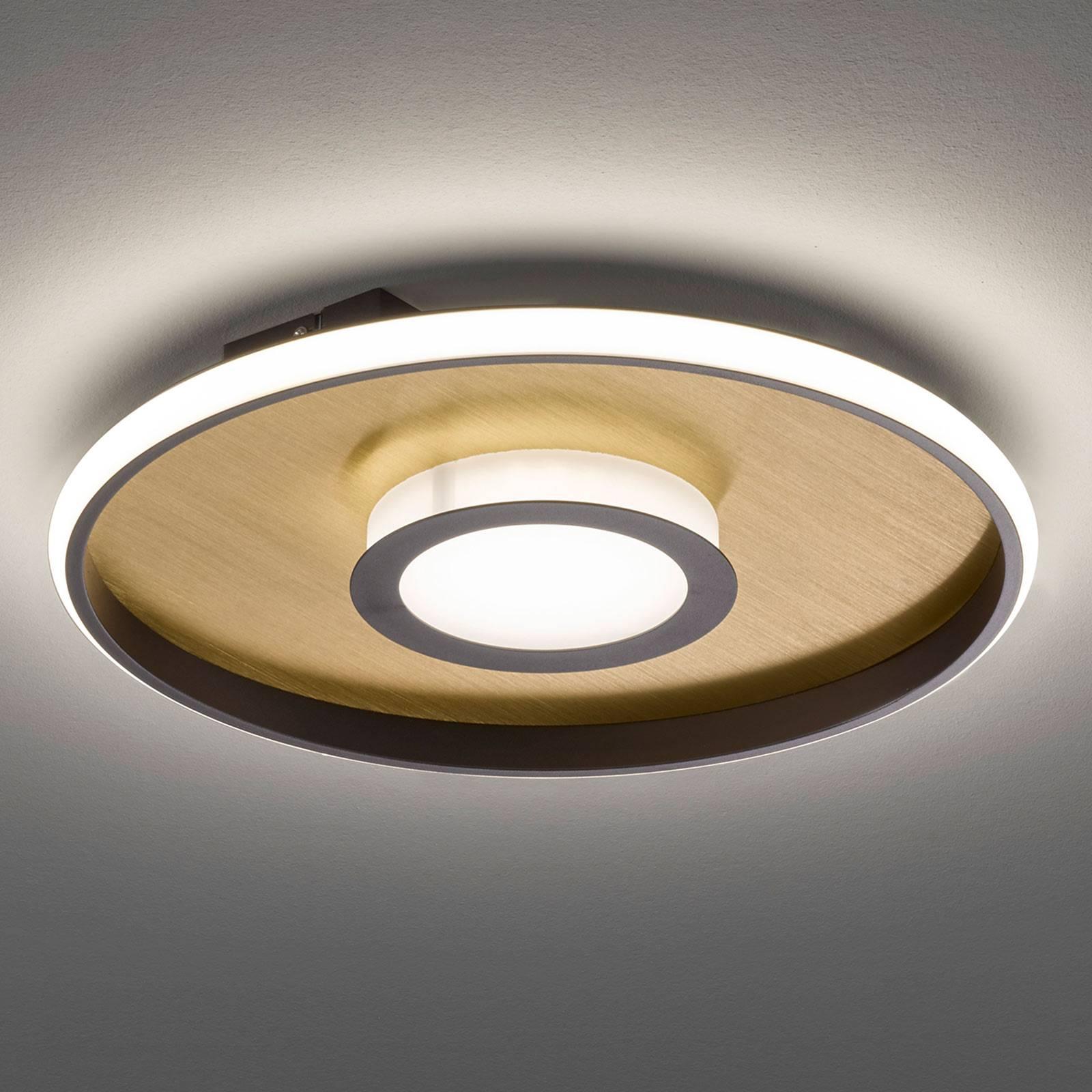 LED-kattovalaisin Zoe, pyöreä, kulta-ruoste, 60 cm